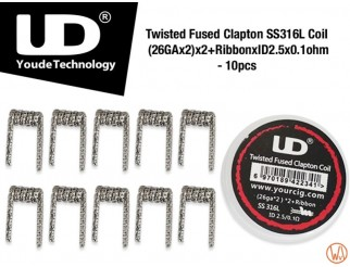 UD Twisted Fused Clapton Coil